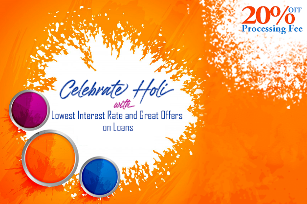 Celebrate Holi with Lowest Interest Rate and Great Offers on Loans